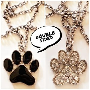 double sided paw print necklace